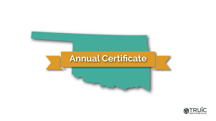 Oklahoma LLC Annual Certificate Image