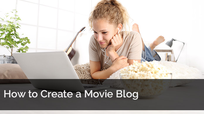 Woman researching online how to Create a Movie Blog