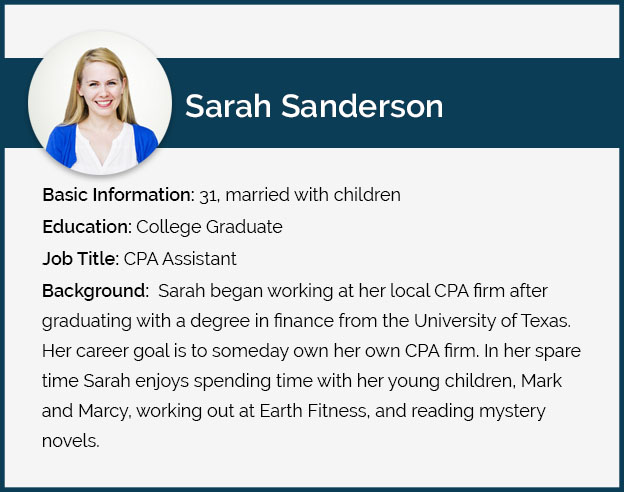 Sarah Sanderson Persona