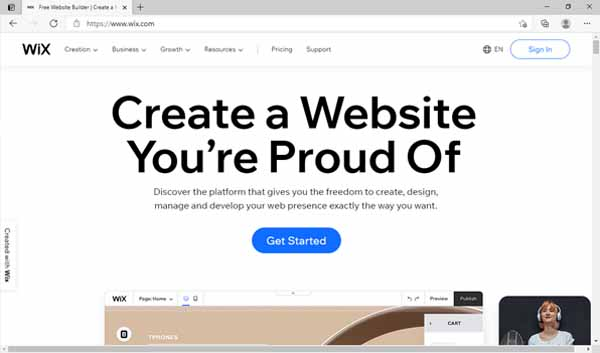 How to make a Wix site.