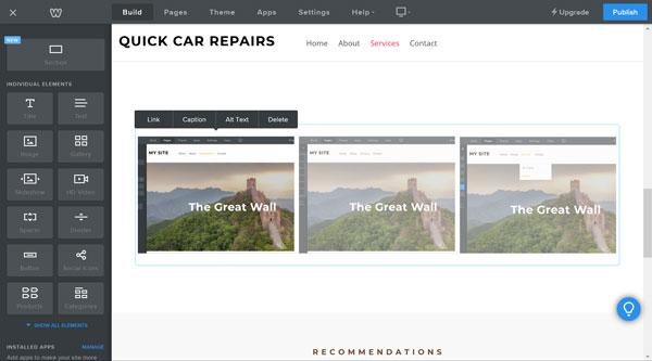 Weebly website builder gallery pictures