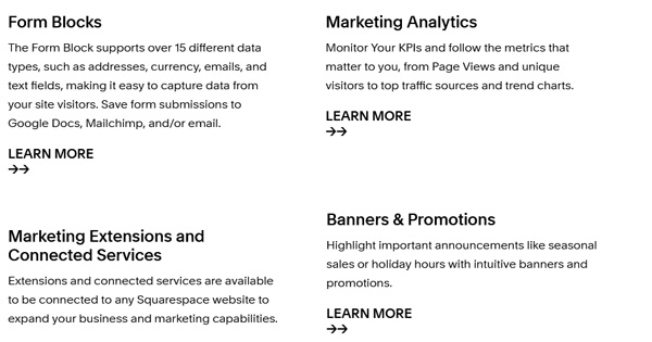 Squarespace pricing and plans.