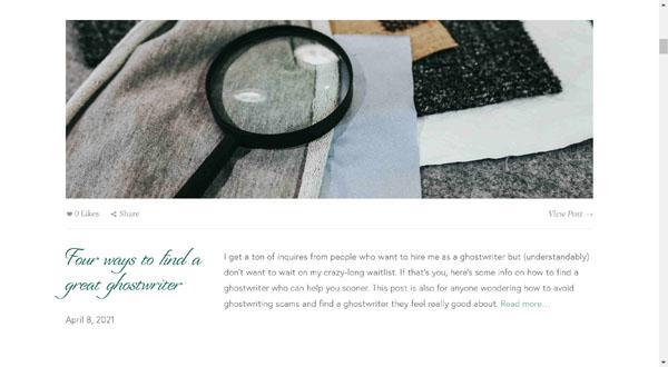 Squarespace website example.