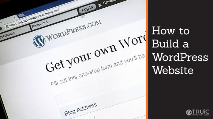 Wordpress page on computer screen