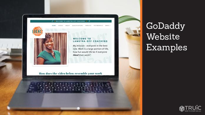 GoDaddy website examples.