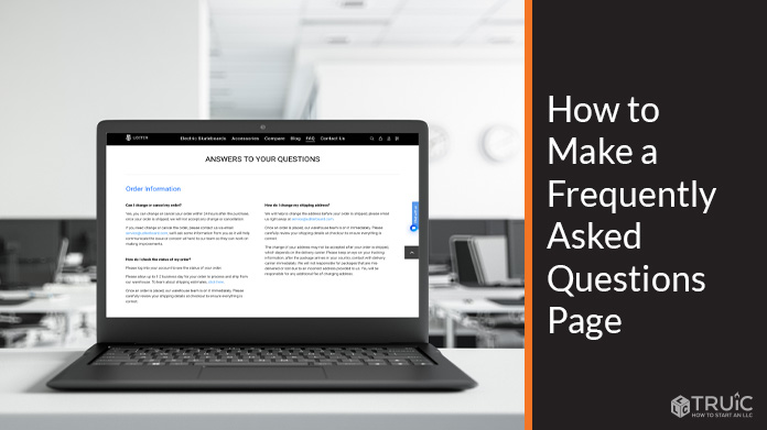 How to Make a Frequently Asked Questions Page - FAQ Page Design.