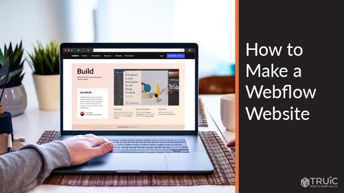 Webflow website build section.