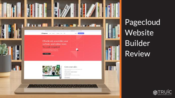Computer screen showing Pagecloud website.