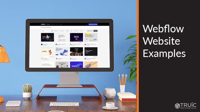 Webflow website examples.