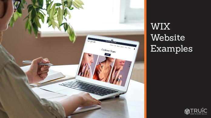 Wix website example.