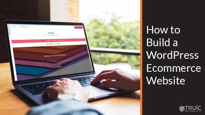 Online business owner building their eCommerce WordPress website.