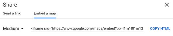 WordPress embed google maps option.