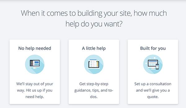 WordPress website building help options.
