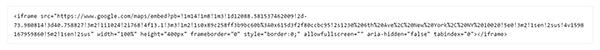 WordPress iframe source code for google mad embedding.