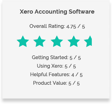 Xero Review Rating Table