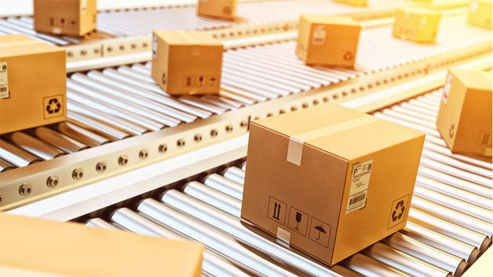 A shipping company assembly line
