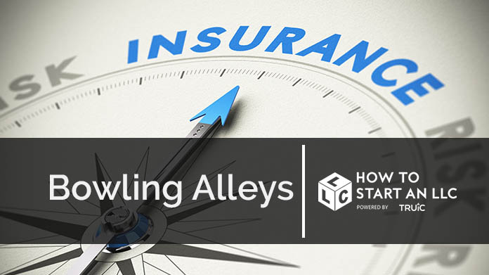Compass needle pointing towards blue insurance logo
