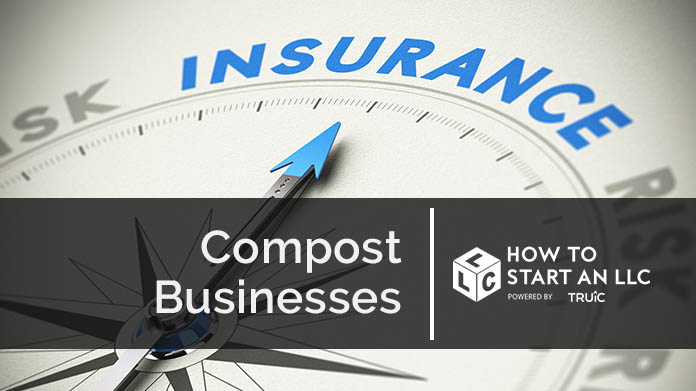 Compass needle pointing towards blue insurance logo