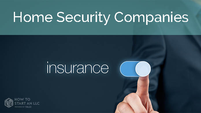 Person in suit switching on an insurance button