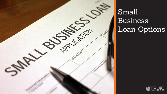 Close up of small business loan application