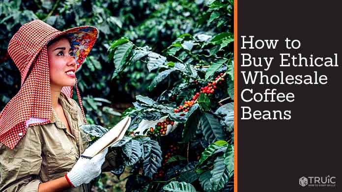 A woman taking notes on the health of her coffee plants.