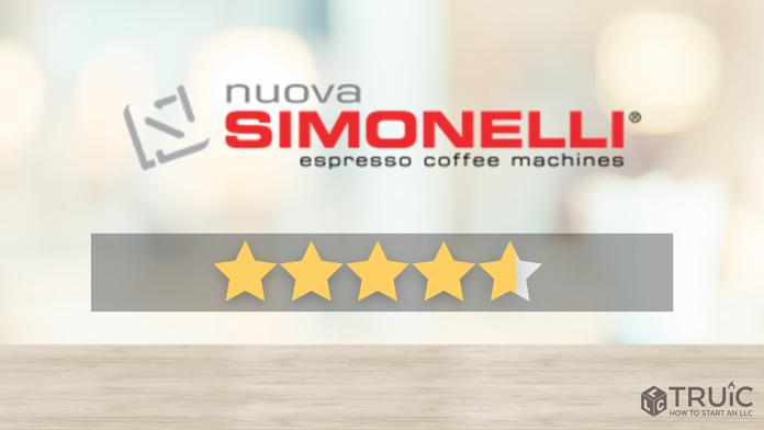 Nuova Simonelli Espresso machine with a 4.8 star review.