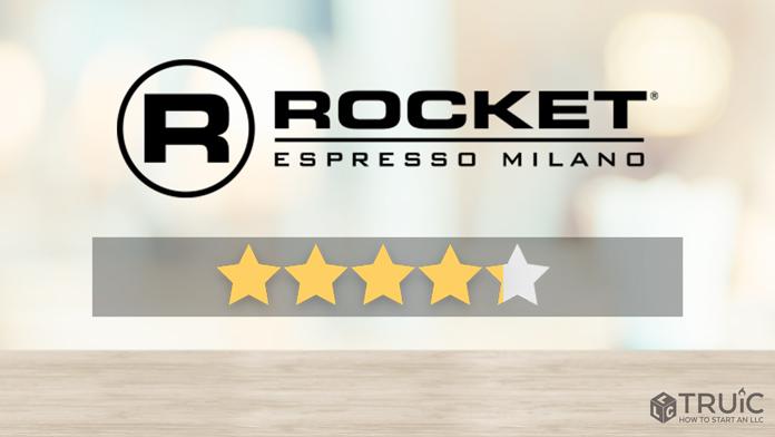 Rocket Espresso machine with a 4 star review.