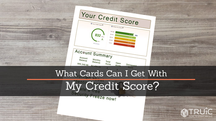 A sample credit score document on a table