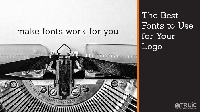 """A typewriter with a sentence that says """"make fonts work for you""""."""