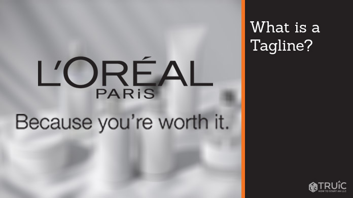 "L'Oreal Paris logo with tagline that says ""Because you're worth it."""