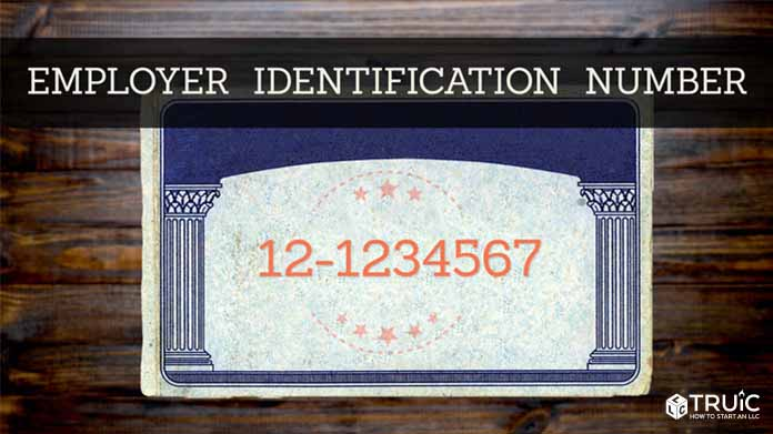 Social security card with the words employer identification number (EIN) on it.