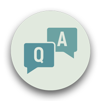 "Two speech bubbles labeled ""Q"" and ""A"": common questions about general liability insurance"