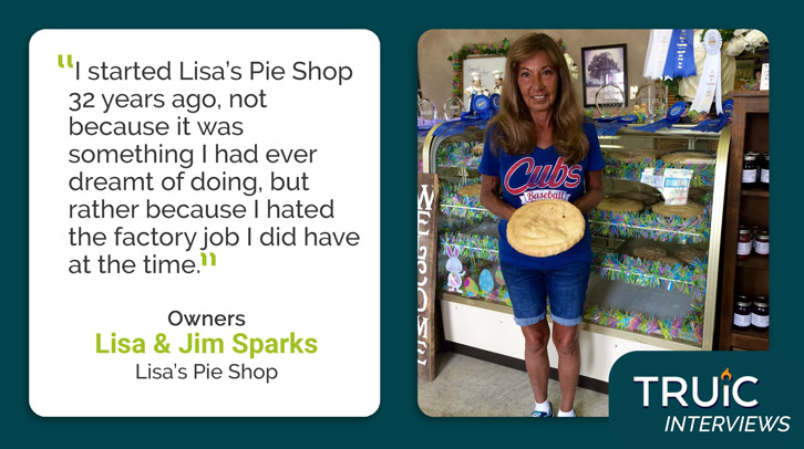 Lisa Sparks, Lisa's Pie Shop