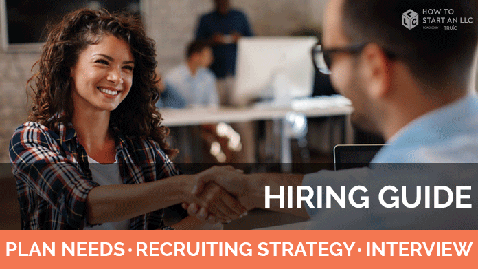 Hiring guide image. Plan for your needs, find recruiting strategies and learn about interviews.