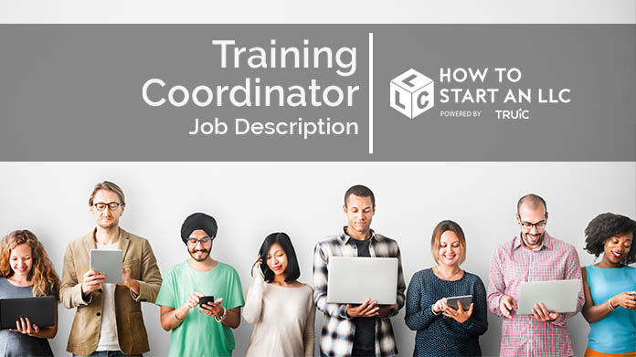 Image with text that says Training Coordinator Job Description