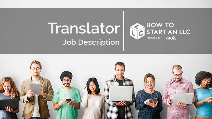 Image with text that says Translator Job Description