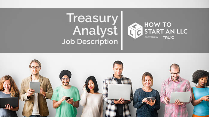 Image with text that says Treasury Analyst Job Description