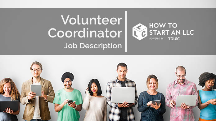 Image of text that says Volunteer Coordinator Job Description