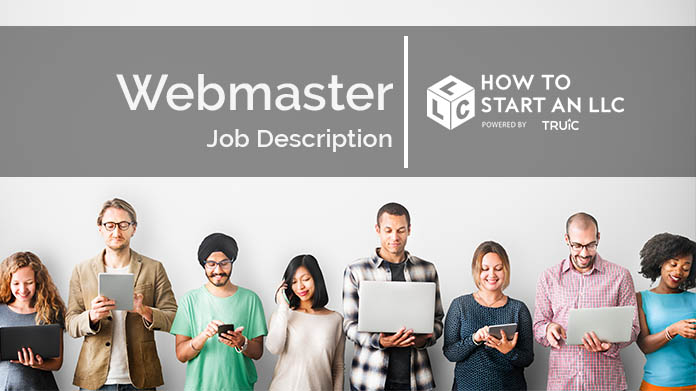 Image with text that says Webmaster Job Description