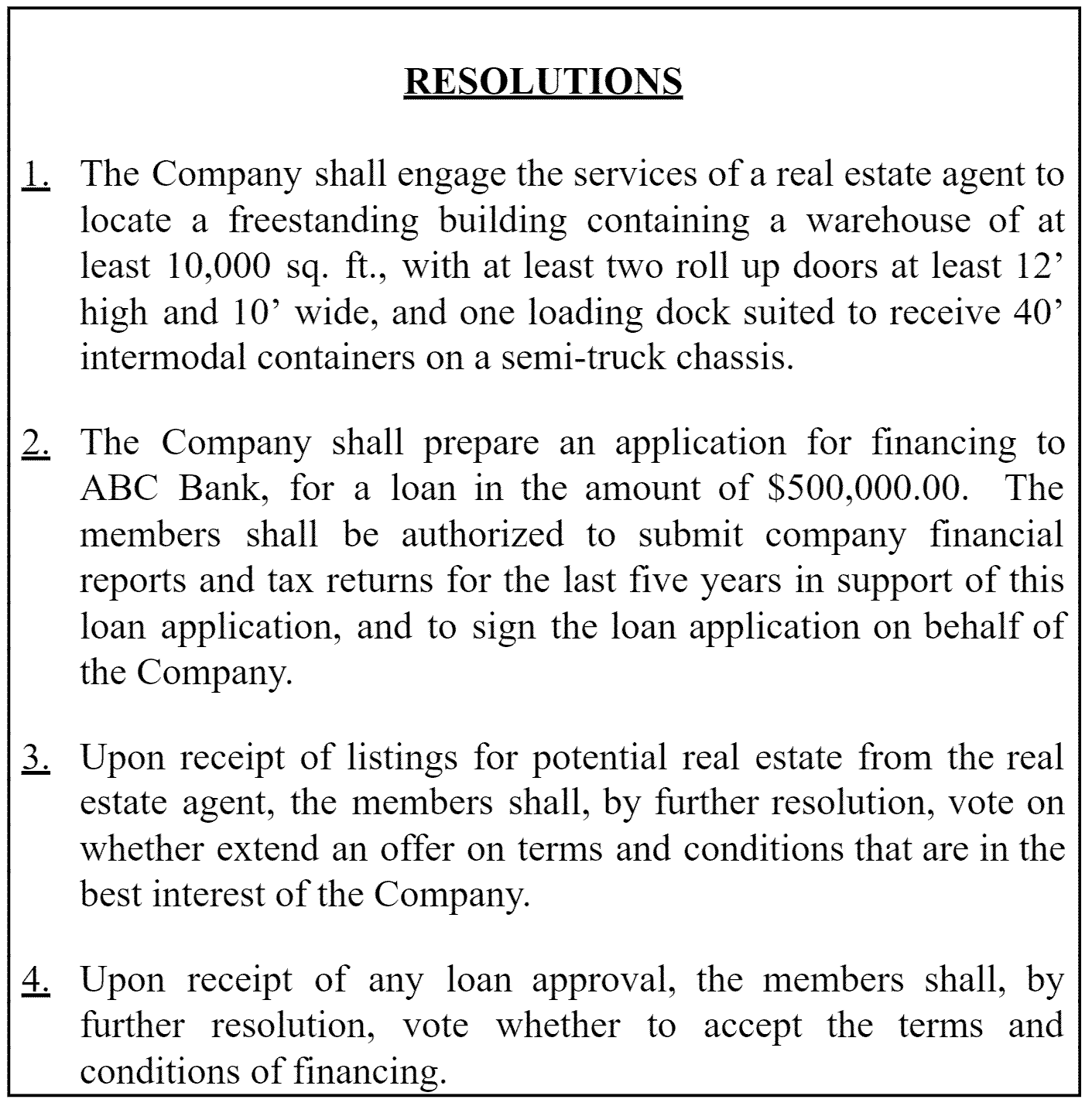 Understanding llc resolutions how to start an llc for Members resolution template