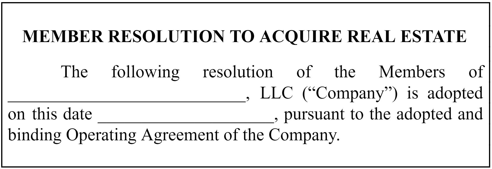 understanding llc resolutions how to start an llc