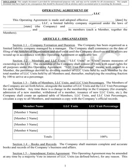 Free Llc Legal Forms How To Start An Llc