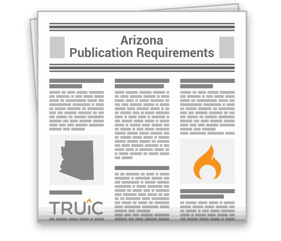 Arizona Publication Requirements Image
