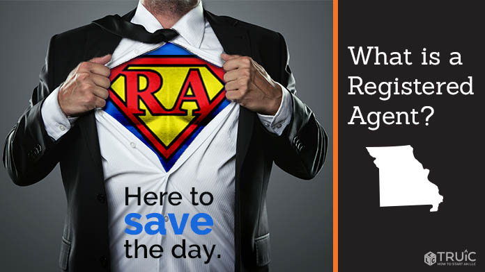 A Missouri Registered Agent revealing his superhero costume