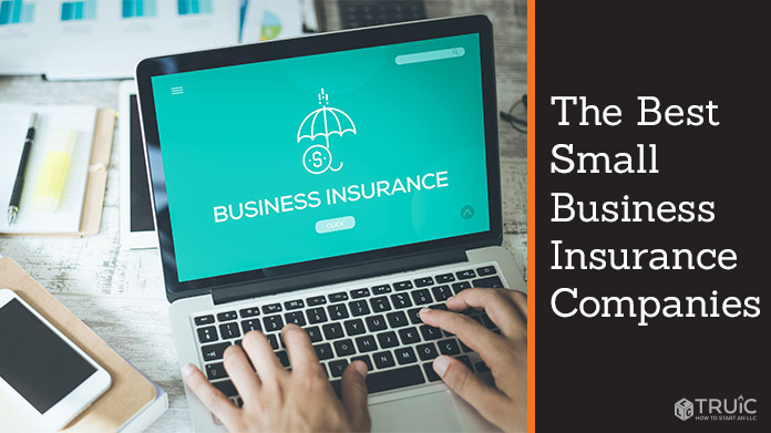 Person working on computer doing research on business insurance