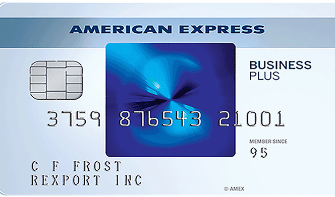 American express blue business plus credit card.