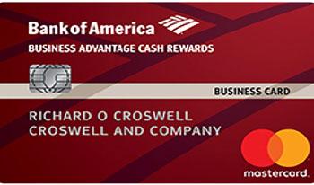 Bank of America Business Advantage Cash Rewards business credit card.