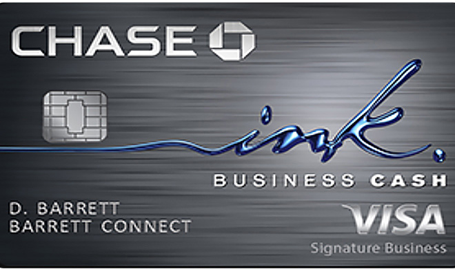 Chase Ink Business Cash business credit card.