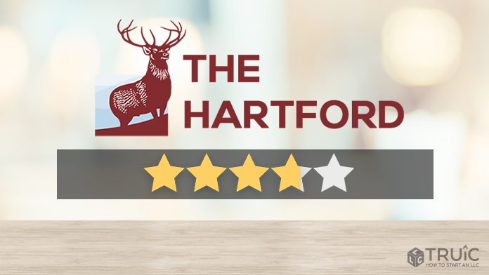 The Hartford logo with a star rating of 3.75/5