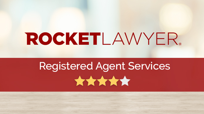 Rocket Lawyer Registered Agent Services Review Image.